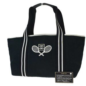 Authentic CHANEL Sport CC Logo Hand Tote Bag